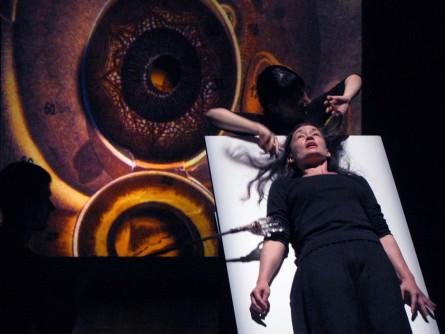 Marina Celander in Hildegard (vision) photo credit Pioneers Go East Collective_GAYLETTER